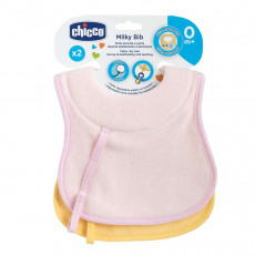 Слюнявчик Chicco BIB 0M+ 2PCS GIRL