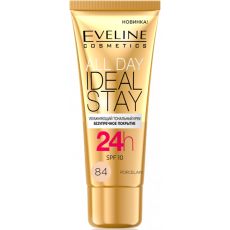 Tonal krem Eveline All Day Ideal Stay 84 Porcelain 30 ml