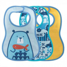 Слюнявчик Chicco WEANING BIB 6M+ 3PCS BOY/NEUTRAL